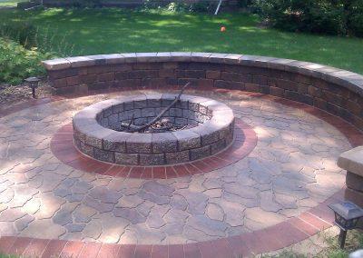 brick fire pit image