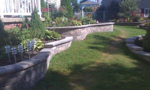 brick-retaining-wall-flower-bed image