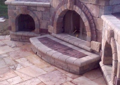 elaborate-brick-paver-outdoor-fireplace image
