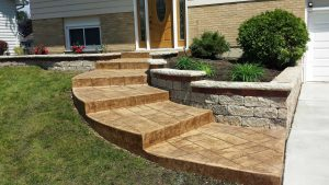 stamped-concrete-front-steps-walkwa image